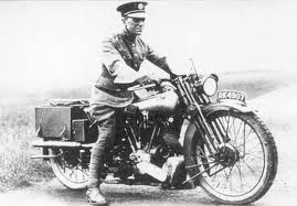 Lawrence of Arabia on a motorcycle