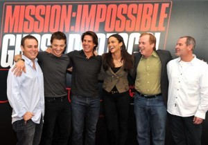 "Brad Bird and cast of ""Mission Impossible"""